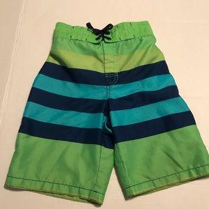 GYMBOREE Boy's Swim Trunks Size 6 Blue Green